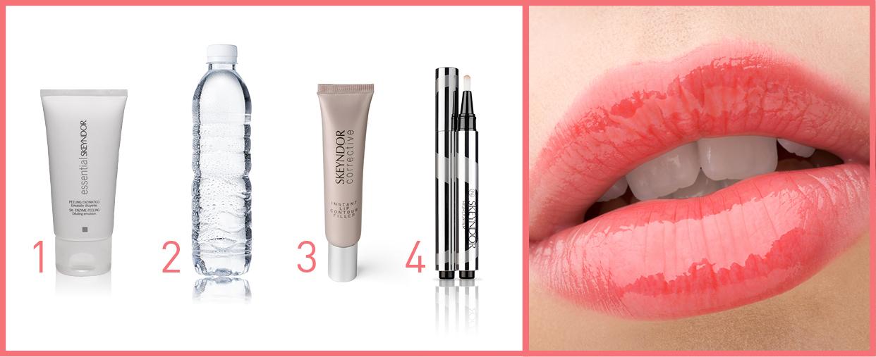 Labios sexys con estos 4 pasos