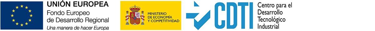 Logo CDTI y FEDER